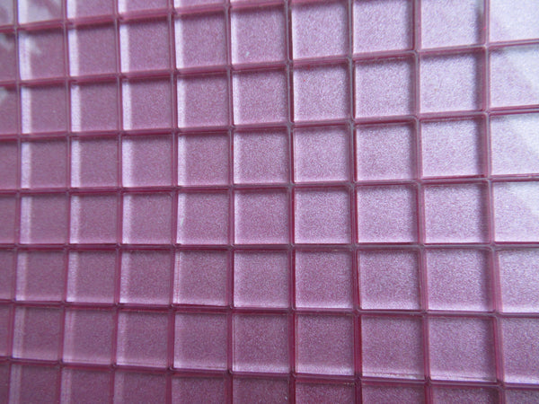 Mauve/Lilac Gold Painted Tile