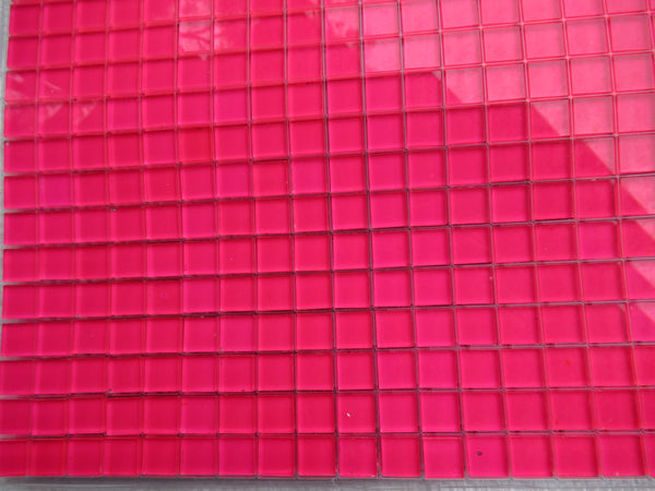 Fluoro Pink Painted Tile
