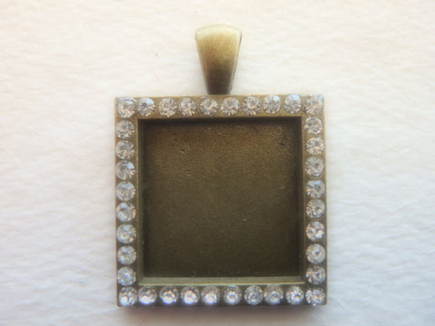 Blinged Blank Square