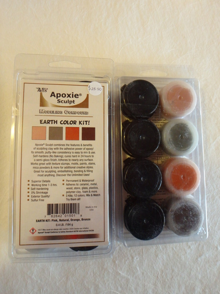 Apoxie Sculpt- Earth Colours: Pink Natural Orange Bronze