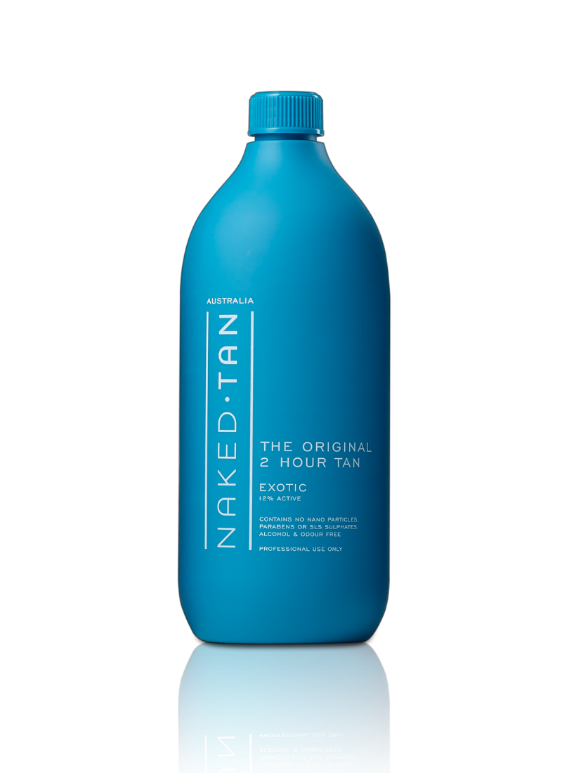 Naked Tan 2-Hour Spray Tan Solution 1L (Exotic 12% DHA