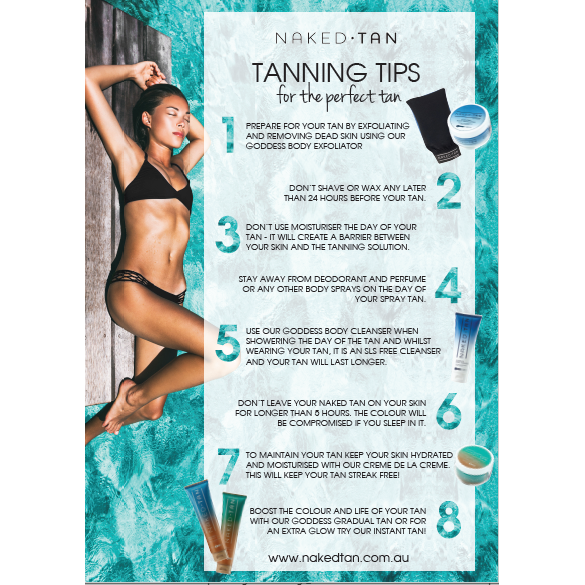 Poster - Tanning Tips