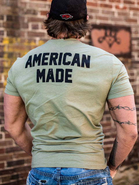Men's T-Shirt+Olive Heather