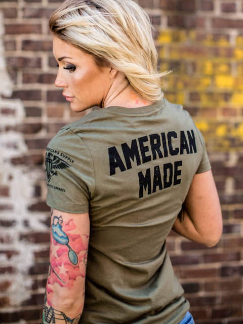 Women's T-Shirt+Olive Heather