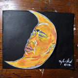 The Lonely Moon painting (2017)