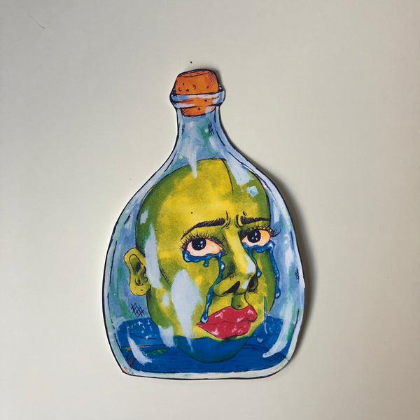 bottled up (dark fabric transfer)