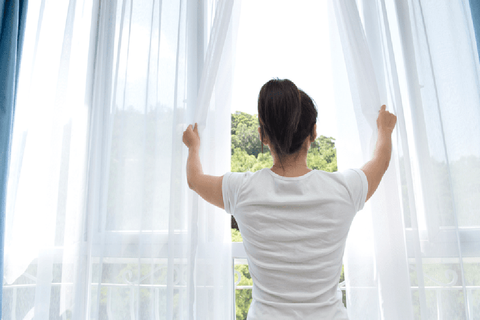Open curtains and windows to keep your room ventilated