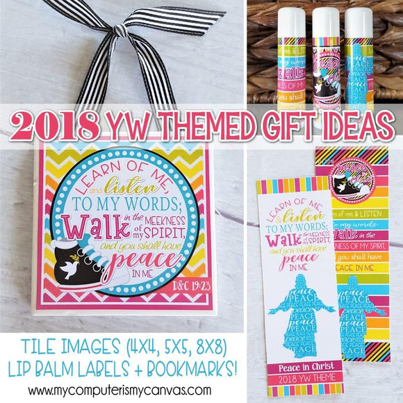 2018 YW Gift Set {Tile Art, Bookmark, Lipbalm} PRINTABLE-My Computer is My Canvas