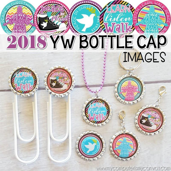2018 YW Theme Bottle Caps {Peace in Christ} PRINTABLE-My Computer is My Canvas