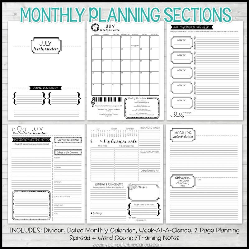 2019 Primary PRESIDENCY Planner PRINTABLE – My Computer is My Canvas