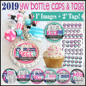 2019 YW Bottle Caps & Tags {JOHN 14:15} PRINTABLE-My Computer is My Canvas