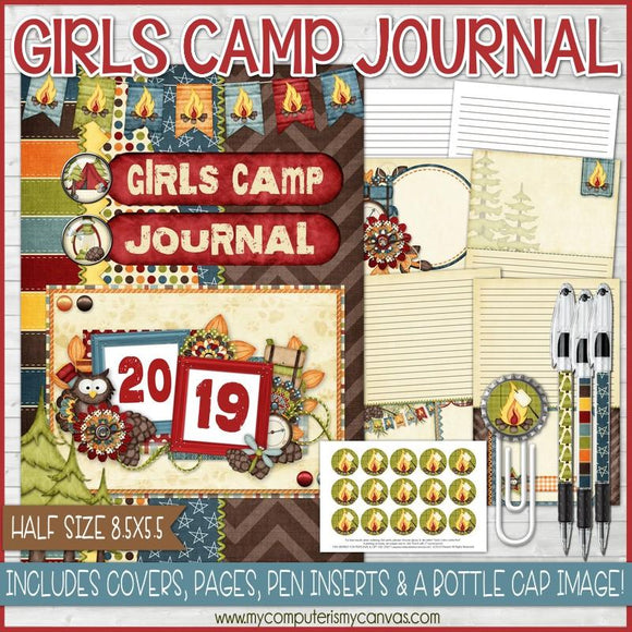 2019 YW Girls Camp Journal {HALF SIZE} PRINTABLE