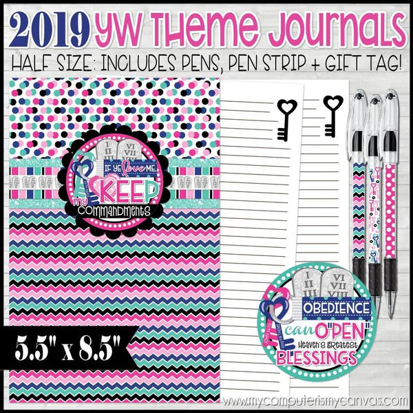 2019 YW Theme Journal {HALF SIZE} PRINTABLE-My Computer is My Canvas