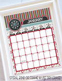 2020 Decorative Desk Calendar - Holiday Themed {EDITABLE} Printable