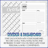 2020 EVERYDAY Personal Planner {Inside Pages Only} EDITABLE Printable