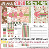 2020 Relief Society BINDER Printables (EDITABLE)