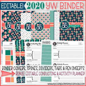 2020 Young Women BINDER Printables (EDITABLE)