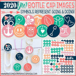2020 YW Bottle Cap Images {Go & Do} Printable