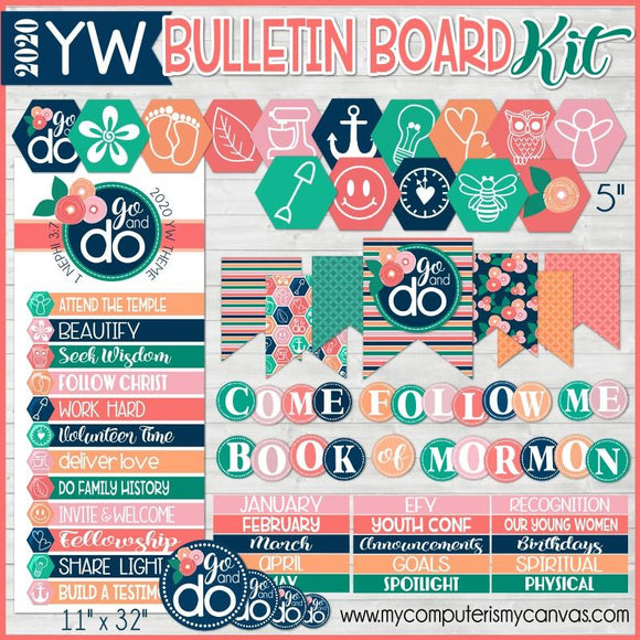 2020 YW Go & Do {BULLETIN BOARD KIT} PRINTABLE