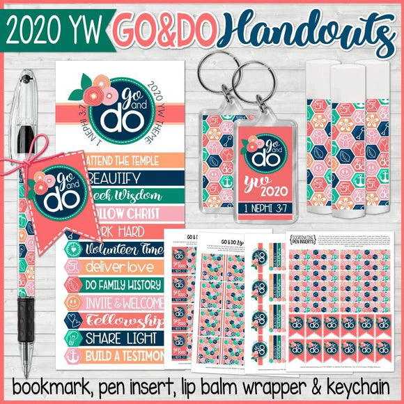 2020 YW Go & Do Theme Handouts {Gift Set} PRINTABLES
