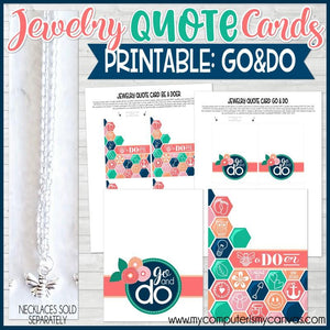 2020 YW Jewelry QUOTE Cards {GO & DO} PRINTABLE