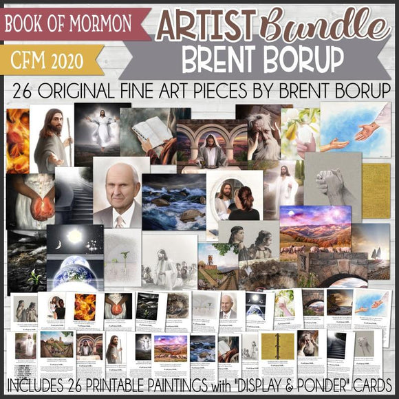 CFM BOOK of MORMON Fine Art ARTIST BUNDLE {Brent Borup} - PRINTABLE