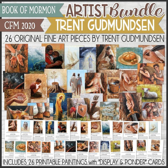 CFM BOOK of MORMON Fine Art ARTIST BUNDLE {Trent Gudmundsen} - PRINTABLE