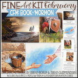 CFM BOOK of MORMON Fine Art BUNDLE 1 {JAN, FEB, MAR & APR} - PRINTABLE
