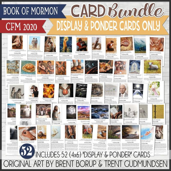 CFM BOOK of MORMON Fine Art {DISPLAY & PONDER CARDS ONLY} - PRINTABLE