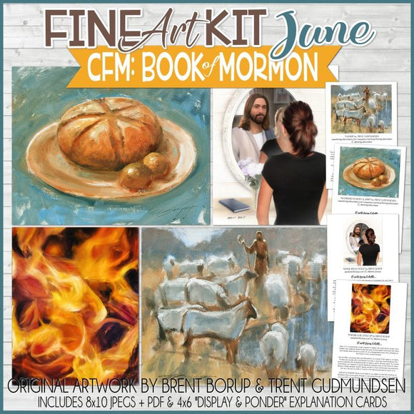 CFM BOOK of MORMON Fine Art Kit {JUNE 2020} PRINTABLE