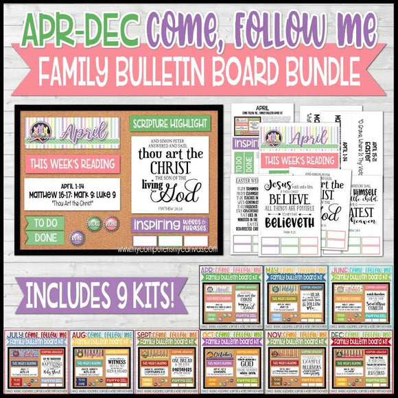 CFM Family Bulletin Board BUNDLE {APR-DEC}