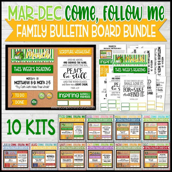 CFM Family Bulletin Board BUNDLE {MAR-DEC}