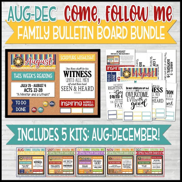 CFM Family Bulletin Board Kit BUNDLE {AUG-DEC}