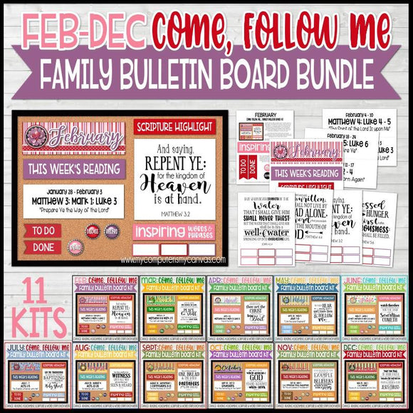 CFM Family Bulletin Board Kit BUNDLE {FEB-DEC}