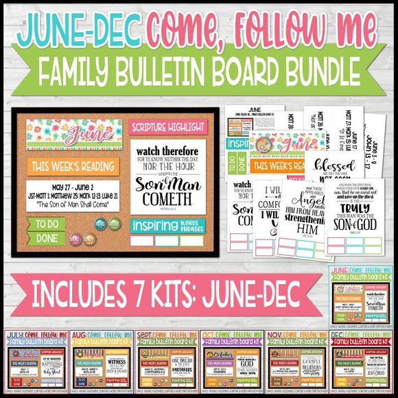 CFM Family Bulletin Board Kit BUNDLE {JUNE-DEC}