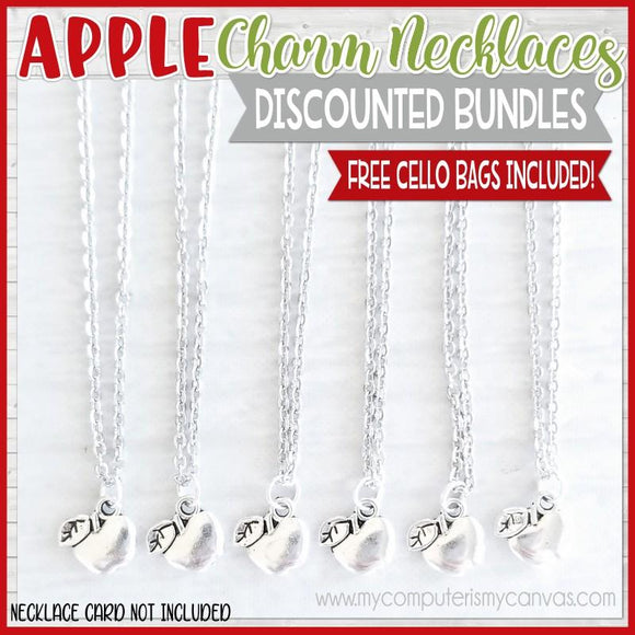 Charm Necklace Bundle {APPLE} SHIPPED