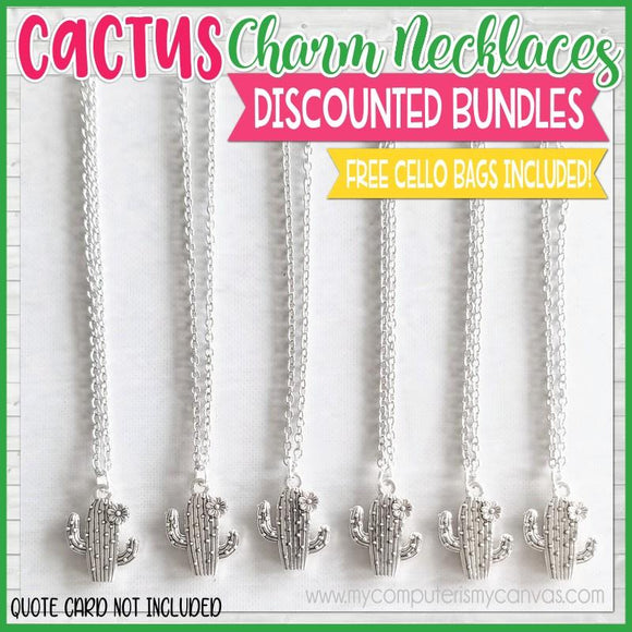 Charm Necklace Bundle {CACTUS} SHIPPED