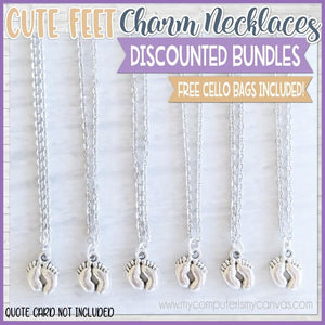 Charm Necklace Bundle {CUTE FEET} SHIPPED