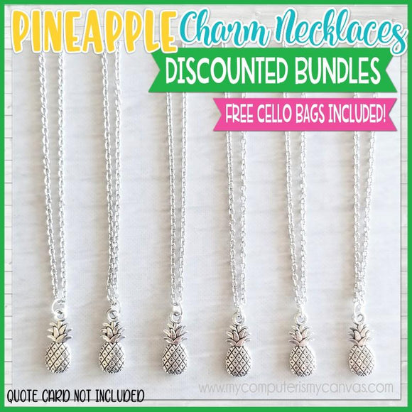 Charm Necklace Bundle {PINEAPPLE} SHIPPED