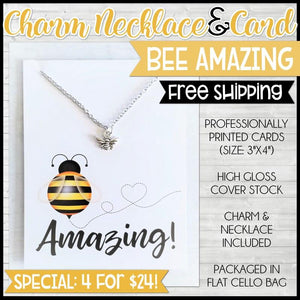 Charm Necklace Special {BEE AMAZING: 4 for $24} SHIPPED