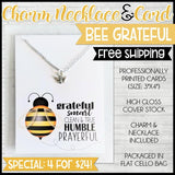 Charm Necklace Special {BEE GRATEFUL: 4 for $24} SHIPPED