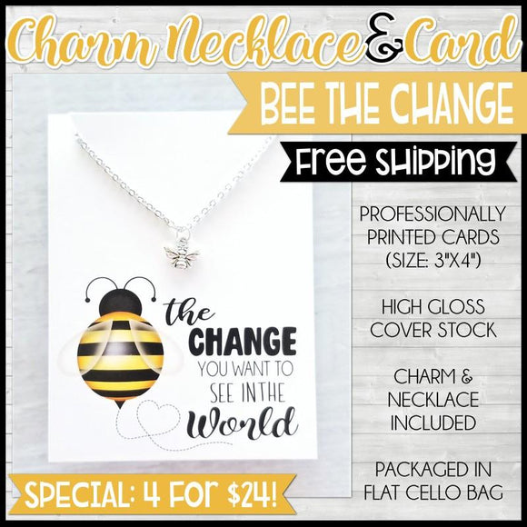 Charm Necklace Special {BEE the CHANGE: 4 for $24} SHIPPED