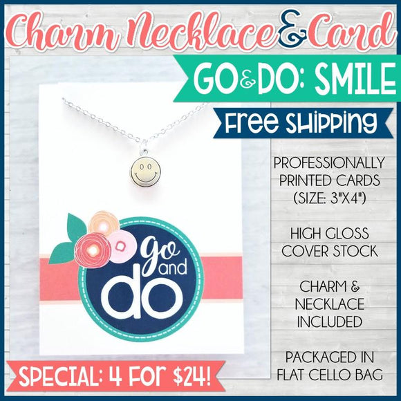 Charm Necklace Special {GO&DO/SMILE: 4 for $24} SHIPPED