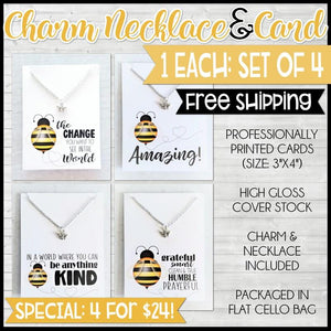 Charm Necklace Special {SET of BEES: 4 for $24} SHIPPED