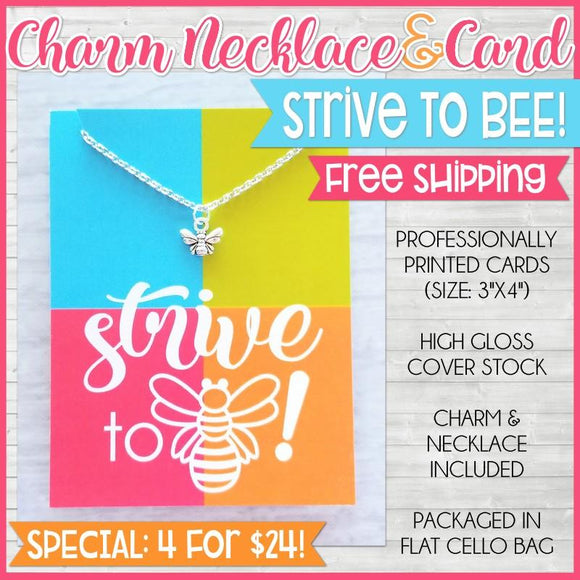 Charm Necklace Special {STRIVE TO BEE: 4 for $24} SHIPPED