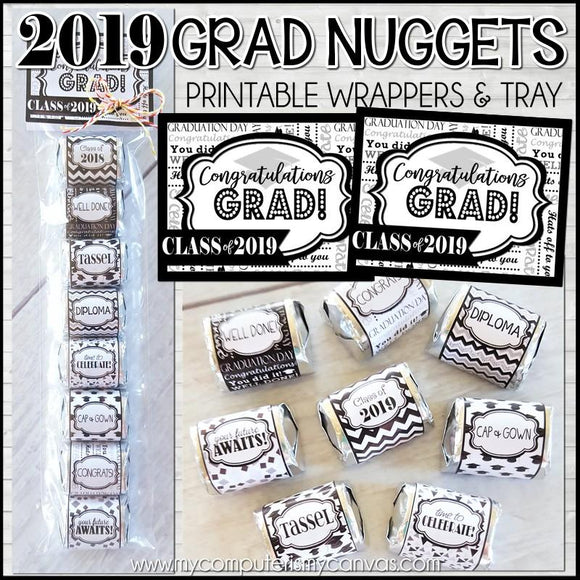 Class of 2019 Graduation Nugget Wrappers PRINTABLE