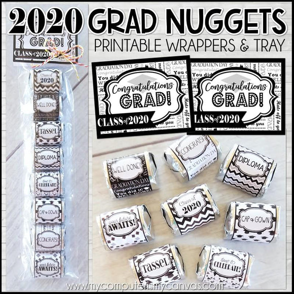 Class of 2020 Graduation Nugget Wrappers PRINTABLE