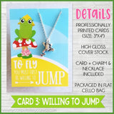 Jewelry Quote Card with Charm Necklace {FROG} SHIPPED