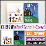 Jewelry Quote Card with Charm Necklace {HALLOWEEN} SHIPPED