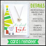 Jewelry Quote Card with Charm Necklace {LAMB} SHIPPED